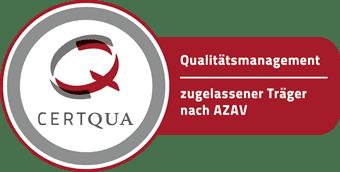 Qualitätsmanagement: zugelassener Träger nach AZAV - Certqua Siegel
