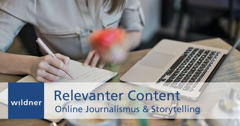Weiterbildung Online Journalismus & Storytelling