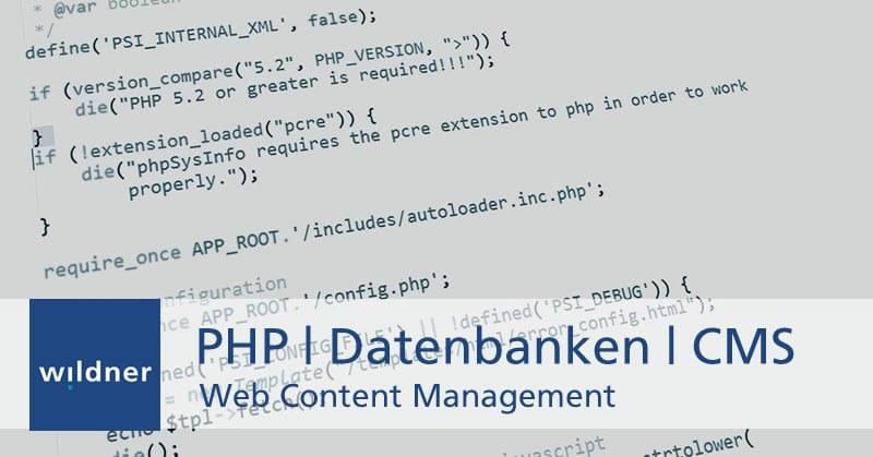 Weiterbildung Web Content Management