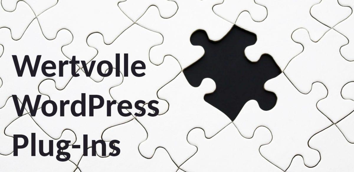 WordPress Plug-In Empfehlungen