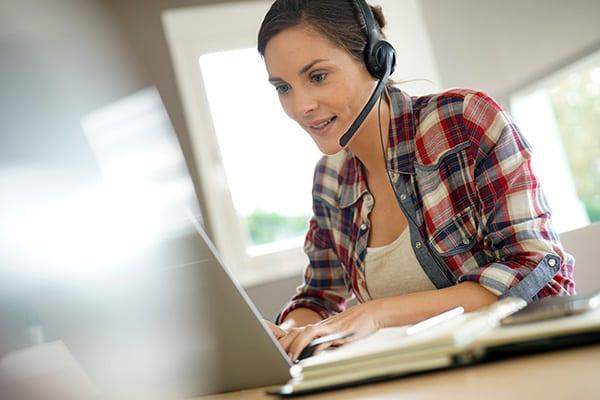 Online lernen von zu Hause aus
